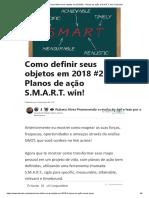 Como Definir Seus Objetos Em 2018 #2 - Planos de Ação S.M.a.R.T. Win! _ LinkedIn