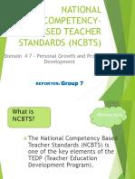 National Competency Based Teacher Standards