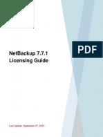 NetBackup 7.7.1 Licensing Guide