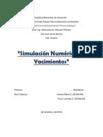 Simulacion Numerica de Yacimientos(Taller)