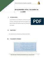 PRACT. 07 Determinacion de Proteina Total en Caseina en La Leche