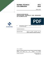 04 NTC 2826 (1990-12-05) Disposiciones Generales Medidores Volumen Gas.pdf