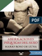 Aberraciones Psiquicas Del Sexo - Mario Roso de Luna