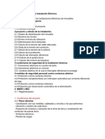 Proyecto y Cálculo de Instalación Eléctrica