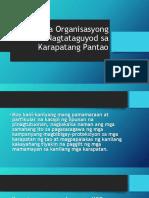 Mga Organisasyong Nagtataguyod Sa Karapatang Pantao