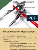 Fundamentals of measurement