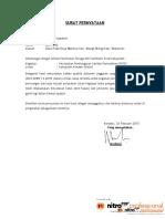 Surat Pernyataan Martono