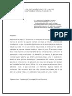 Psicología Deontología, Clínica y Pedagogía