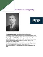 La Teoría Sociocultural de Lev Vygotsky