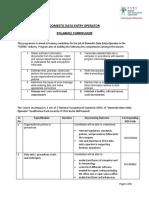 Curriculum DataEntryOperator