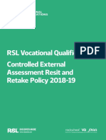 VQ Controlled External Assessment Resit Retake 201819