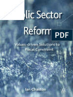 Public Sector Reformation Values Driven Solutions to Fiscal Constraint