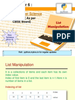 6 List Manipulation