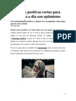 125 Frases Positivas Cortas Para Vivir El Día a Día Con Optimismo