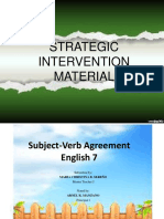 Sim 2017-18 Subject-Verb Agreement