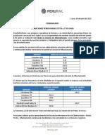 Comunicado Operaciones Ferroviarias 06 y 07 de Junio