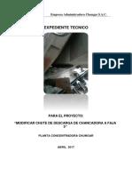 2017-186 Expediente Tecnico - Modificar Chute de Descarga de Chancadora ...