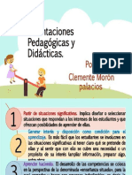 Orientaciones Pedagógicas y Didácticas - Clemente Morón