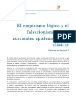 IPC_material de Lectura 7 El Empirismo Lógico y El Falsacionismo Como Corrientes Epistemologicas Clasicas SIN EXPLICACIÖN
