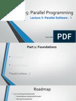 Part 1 - Lecture 3 - Parallel Software-1