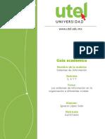 Sistemas de Información Evidencia de aprendizaje Parcial 3