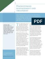 Haematomas Management and Treatment