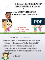 Stress Reactions Related to Developmental Stages