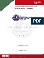 2010 Analisis Del Nivel de Servicio Peatonal en La Ciudad de Lima