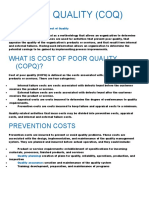 Cost of Quality (Coq)