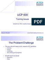 UCP 600 - Training Issues
