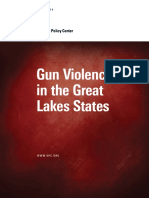 Gun Violence in the Great Lakes States 2019