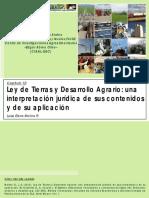 Interpretacion Ley de Tierras y Desarrollo Agrario