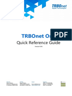 TRBOnet One Quick Reference Guide v5.3.5