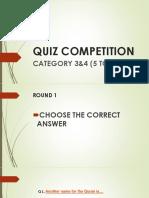 Quiz Competition Sadia Ahsan