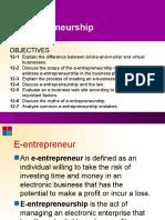 e Entrepreneurship