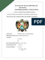 PRACTICAS DE LABORATORIO DE QUÍMICA GENERAL