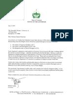 Gov. Phil Scott's letter to Attorney General T.J. Donovan on case dismissals