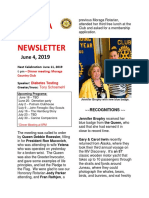 Moraga Rotary Newsletter June 4 2019