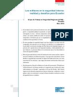 Los Militares en La Seguridad Interna-Ecuador