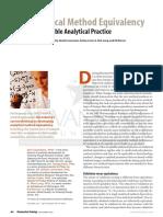 Analytical Method Equivalency