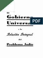 El Gobierno Universal - Franz Griese