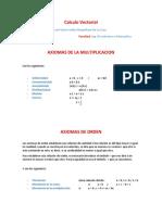 Axiomas de La Multiplicacion, De Orden y Clases de Intervalos