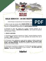 Set Bullys Siroco 24mayo2019