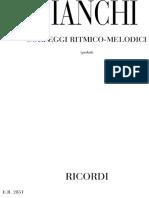 Bianchi - Solfeggi Ritmici, melodici