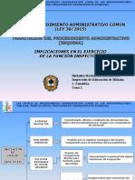 Esquema Procedimiento Administrativo Común español