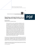 Negotiating a Pathological Identity in the Clinical dialogue Discourse Analysis of a Family Therapy