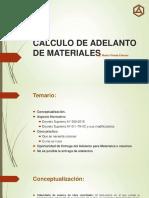 Calculo de Adelanto de Materiales