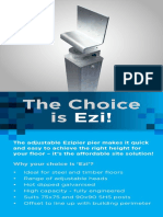 Ezipier Universal Adjustable Steel Stumps Flyer