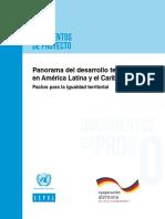Panorama Del Desarrollo Pactos