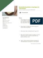Ensalada de Patatas a La Griega Con Thermomix Receta de Thermomíxate - Cookpad